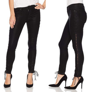 Hudson The Stevie Midrise Cont Lace Up Skiny Jeans